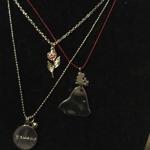 Belle Beauty & the Beast Necklace trio